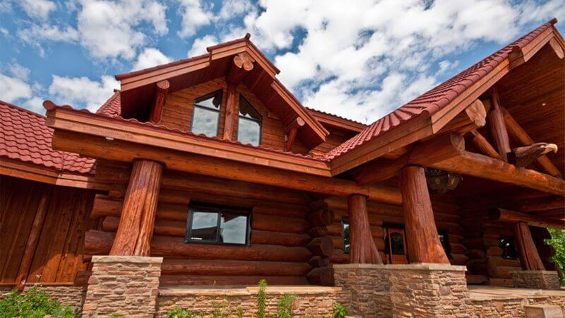 pioneer log home. Black Bedroom Furniture Sets. Home Design Ideas